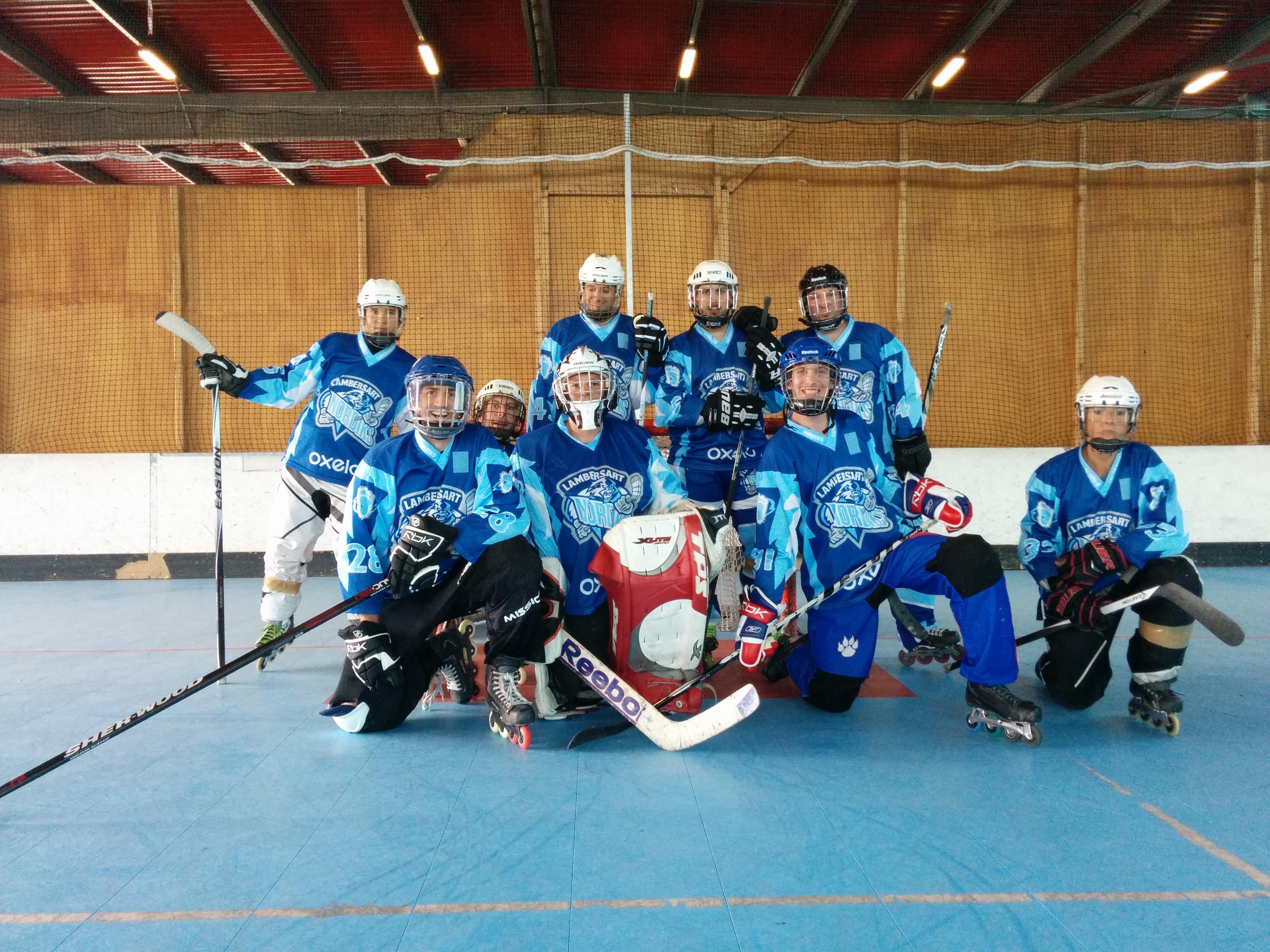 L'équipe de roller hockey des Nordiks de Lambersart