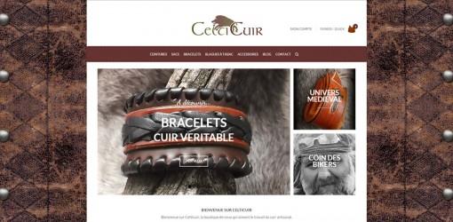 Celticuir : mon premier «vrai» projet Woocommerce