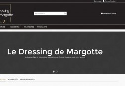 Site web le Dressing de Margotte
